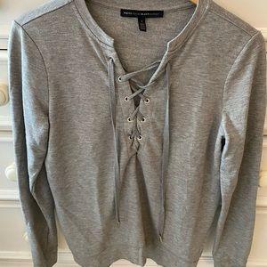 White House Black Market Gray Shirt